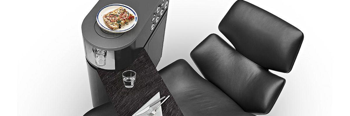 mobiler Couch-Caddy (Butler) mit schwenkbarem Tischbereich